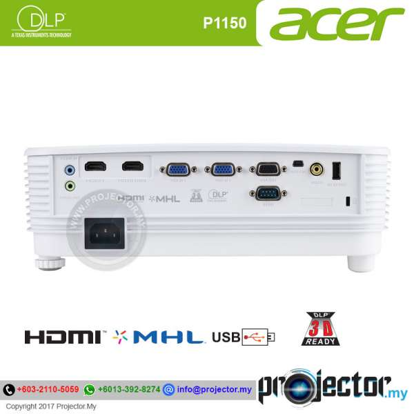 Acer P1150 Essential DLP Projector