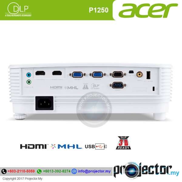 Acer P1250 Essential DLP Projector