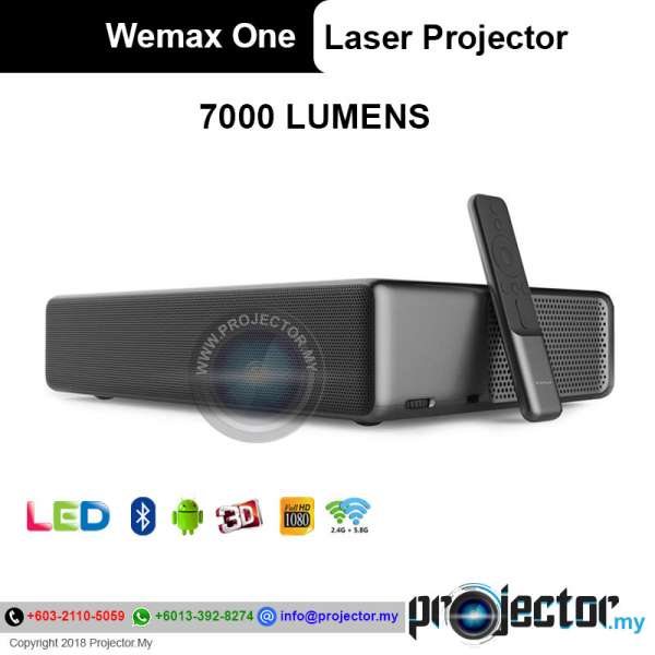 Wemax One Full HD Ultra Short Throw 7000 Lumens Smart Android Laser Projector
