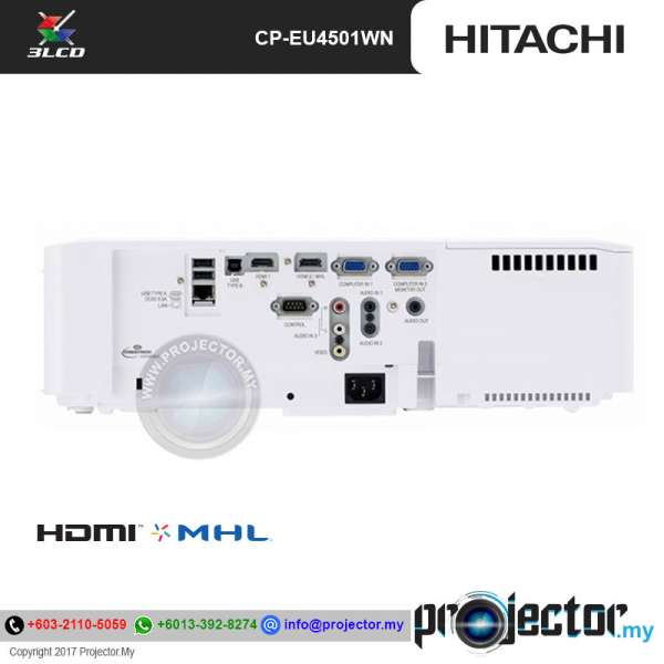 Hitachi CP-EU4501WN WUXGA Projector