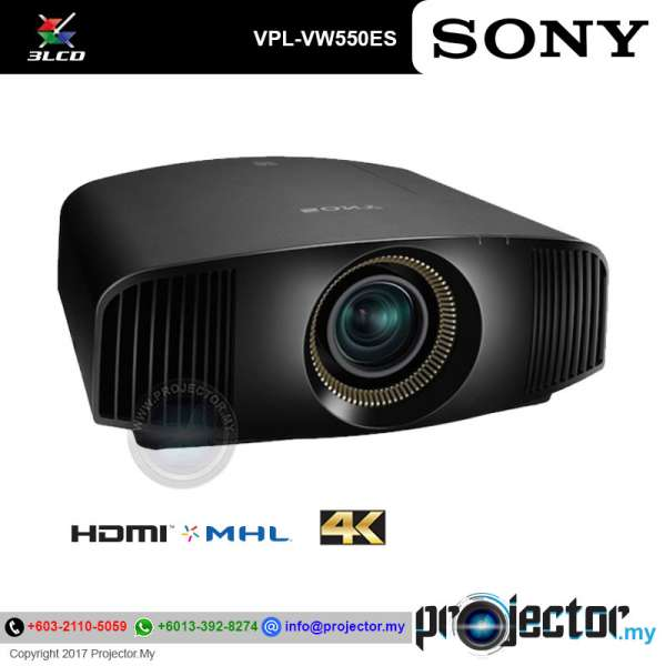 Sony Vpl Vw550es 4k Sxrd Home Cinema Projector Projector