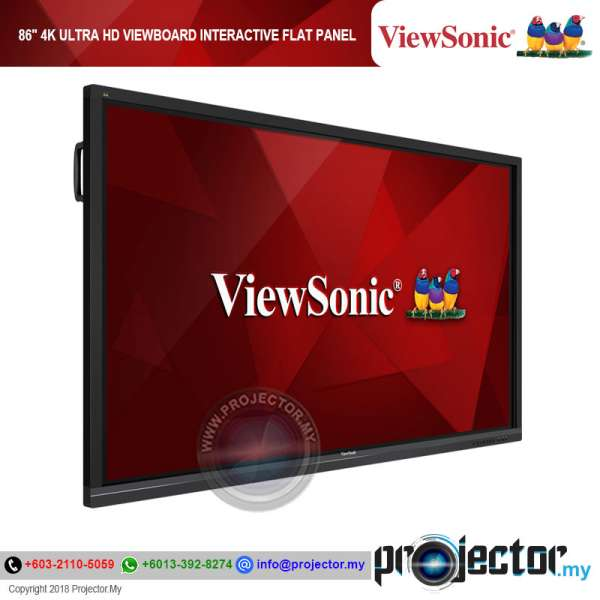 "ViewSonic IFP8650 86"" 4K Ultra HD ViewBoard Interactive Flat Panel"